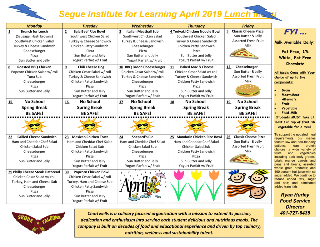 SIFL April 2019 Lunch and Dinner Menu-0