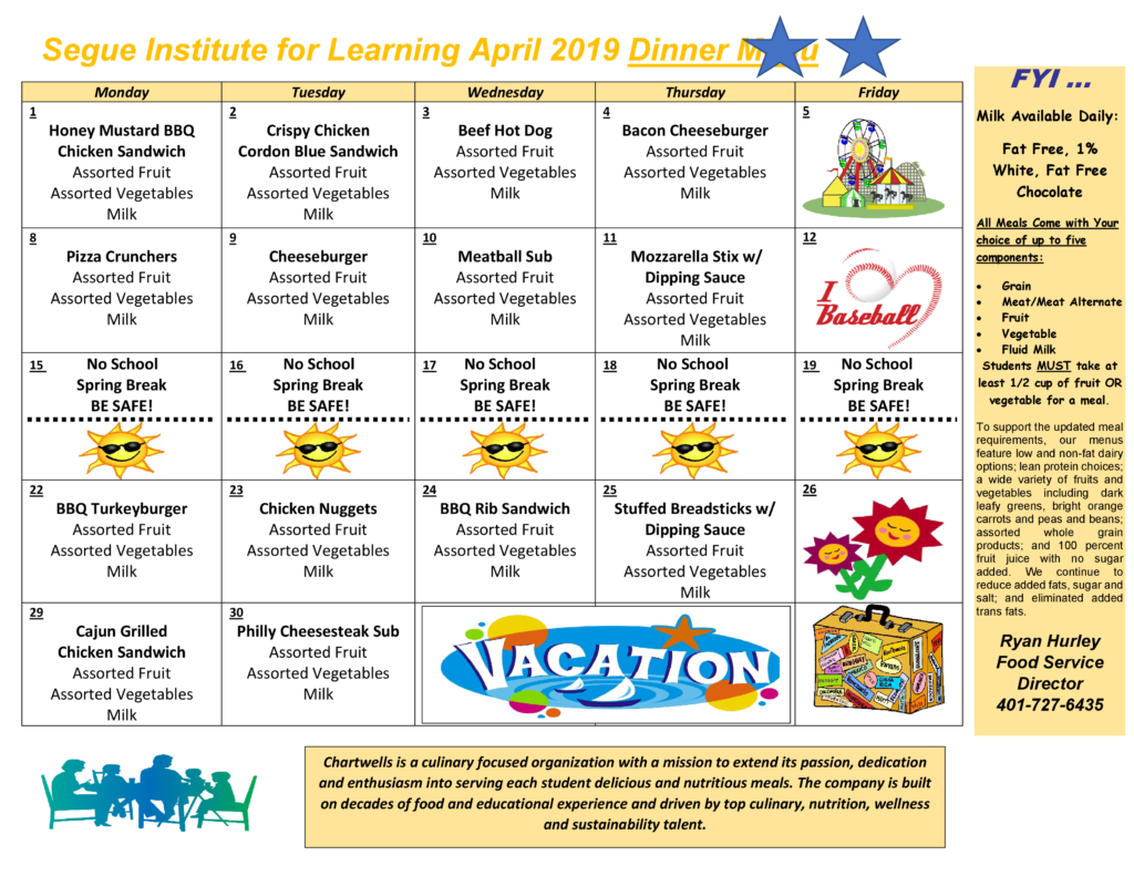 SIFL April 2019 Lunch and Dinner Menu-1