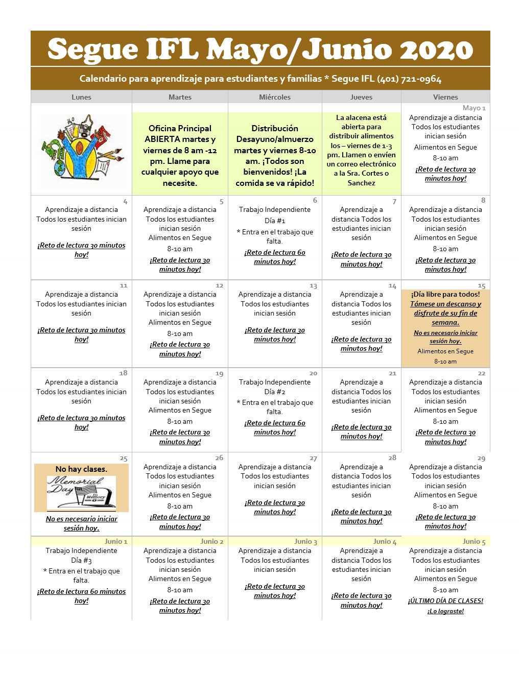 Distance Learning May-June 2020 Calendar SIFL PDF Spanish_1